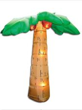 GEMMY 8' Airblown INFLATABLE PALM TREE W/ Coconuts Christmas. Barbecue. Beach
