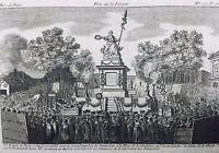 Statue de la Liberté 1792 Libération de la Savoie Place de la Révolution Paris