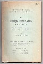 HISTOIRE DROIT MARIAGE FIANCAILLES ANCIEN REGIME STATUTS SYNODAUX THESE PIVETEAU