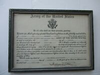 WWII US Army Promotion Document Sergeant 241st Coast Artillery Fort Andrews 1941