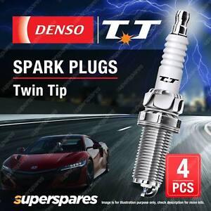 4x Denso Twin Tip Spark Plugs for Toyota Rav 4 Starlet Tarago Estima Yaris Verso