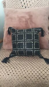 French Connection studded Leather Cushion Covers Only X 4