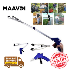 "Heavy Duty Grabber Tool Pick Up Stick Hand Suction Grip Reach Trash Reacher 32"""