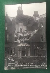 Scarborough. Bombing Raid 1914. Rare & Unfranked. Very Clean For Age