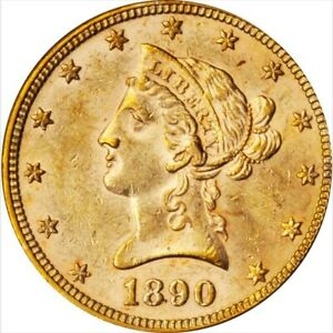 1890 $10 Dollar Gold Eagle. PCGS MS61. CAC. Way under graded.