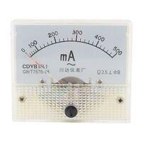 1Pcs AC 0-500mA Analog Ammeter Panel Pointer Meter Gauge 85L1 New