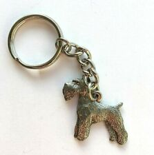 Schnauzer Keyring in Copyrighted Antiqued Pewter Gifts