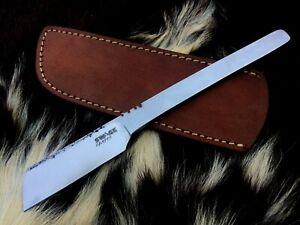 Handmade Straight Razor-Cut Throat-Kamisori Razor-Men grooming-Antiqued