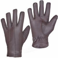 MENS LEATHER GLOVES SOFT FEEL FULLY LINED WINTER WARM OUTDOOR WALKING NEW