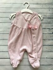 Baby Girls Clothes Newborn - Cute Velour All In One  Dungarees Outfit