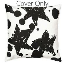 "IKEA SPRIDD Black & White Star Dot Cushion Slip Pillow Cover 20""x20"" - NWOT"