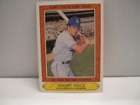 1985 Woolworth's Topps Collectors Series Card #39 Maury Wills LA Dodgers
