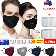 Washable Reusable PM 2.5 Anti Air Pollution Face Mask With Respirator  Filters