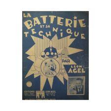 Agel Leon La Batteria E Tecnica Metodo Batteria 1950 Spartito Foglio Musi