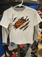 Boy's Nike White Long Sleeve Shirt With Logo Size 3T