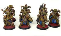 Warhammer 40k Death Guard Plague Marines well painted x7 inc Champion Plasma