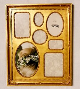 Fetco Home Decor Bronze Collage Picture Frame - Holds 7 Multiple Size Photos