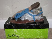 Sam Edelman Gela Suede Malibu Blue Sandals Women's Size 7 NEW!