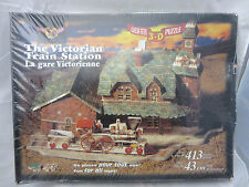 Vintage Victorian Train Station 3D Puzzle Over 413 Pieces 1997 NEW Made in USA