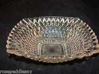 Vintage Hobnail Glass Candy /bowl  Diamond Point  Pattern Design