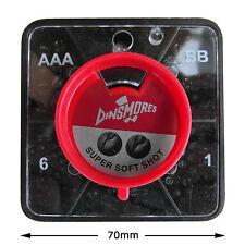 Dinsmores Super Soft Non Toxic Shot 5 Compartment Square: AAA, BB,No1, No4 & No6