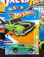 Hot Wheels 2012 #20 Chevrolet® SS GREEN,5SP,CHROME BASE,IMPORTED,US,E07
