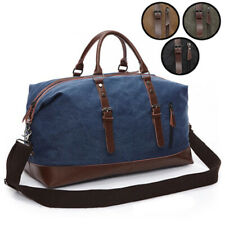 Canvas Duffle Gym Bag Travel Weekender Carry on Luggage Casual Outdoor Shoulder