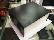"9""x7.5""x4"" Black DIY Metal Electronic Project Box / Transformer Enclosure Case"