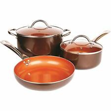 Copper Cookware Set 5-Piece Luxury Ceramic Induction Non-Stick