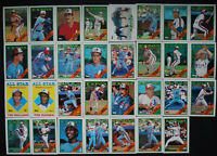 1988 Topps Montreal Expos Team Set of 34 Baseball Cards With Traded
