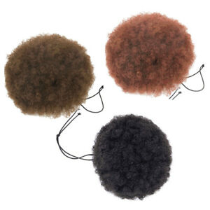 Curly Puff Ponytail Drawstring Hair Extensions Synthetic Wrap - African American