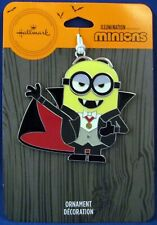 2020 Hallmark Flat Metal Halloween Ornament Vampire MINION *new*