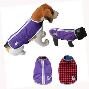 Reversible Dog Jacket Clothes Blanket Dog Coat Reflective Warm Pet Dog Vest