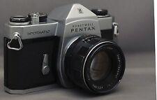 ASAHI PENTAX SPOTMATIC Honeywell 35mm FILM Camera SMC Takumar M42 f/2 55mm Lens