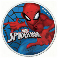 1 oz Silver 2017 SPIDERMAN Colorized and GLOW IN THE DARK Coin with Box and CoA