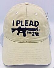 I Plead The 2nd Ball Cap Pro Gun US Second Amendment Unconstructed Dad Hat stone