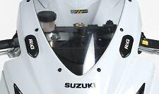 Suzuki GSXR750 & GSXR600 2006-2010 R&G Racing placas de supresión de Espejo Negro