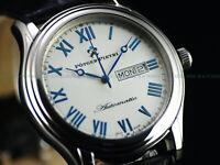 RARE Potger Pietri Invicta Men's Swiss Made ETA 2836 Automatic Leather SS Watch