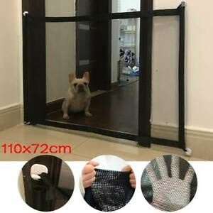 UK Retractable Magic Mesh Pet Dog Cat Gate Safe Net Guard Fence Enclosure