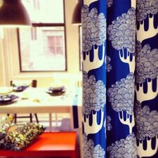 """Ikea KAJSAMIA BLUE Curtains 2 panels 57x98"""" ea panel Eyelets Designer E Hagman"""