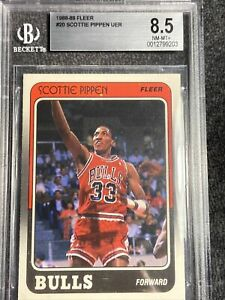 1988 Fleer Scottie Pippen #20 BVG 8.5 NM-MT+ Bulls Chicago