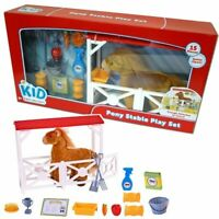Kid Connection Pony Stable Play Set With Accessories 15 piece Fun Toy Plush NEW