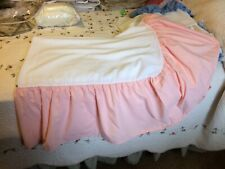 Queen Size Bed Skirt, Cream With Peach Drop