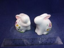 NEW Whimsical Spring Bunny Garden Flower Gift Craft Salt Pepper Shakers GC109