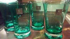 Brand New In Box Set of 4 Royal Doulton Sea Green Color Hiball Drinking Glasses