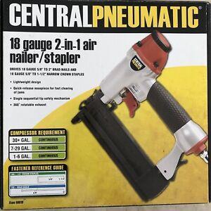 Electric Staple Gun Pneumatic Stapler 18 Gauge 2-in-1 Air Nailer/Stapler