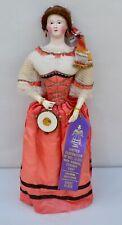 Antique, Rare Paper Mache Lady Fashion Doll, Jumeau, 1851 Ufdoll Club 1St Place