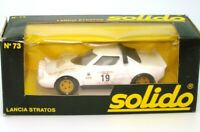 SOLIDO VINTAGE NO. 73 1/43 LANCIA STRATOS WHITE - MINT BOXED