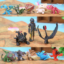 13pcs/set How To Train Your Dragon Figure Hiccup Toothless Night Fury Nadder ~A