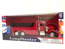 "Kenworth W900 Wrecker  11"" Tow Truck 1:32 Diecast Collectible New Ray Toys Red"